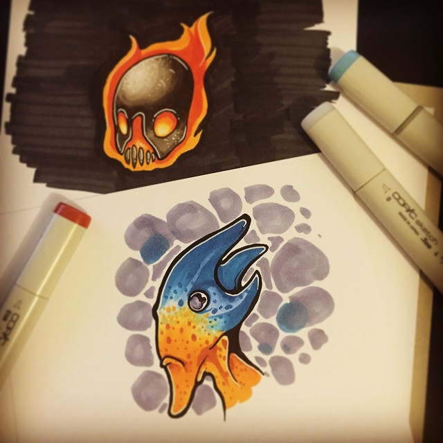 Copic Practice by nightgrowler