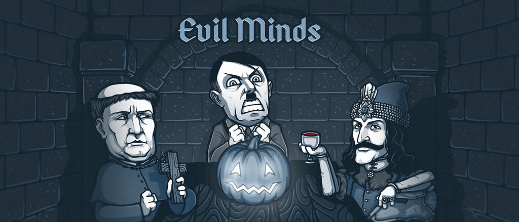 Evil Minds Telegram Sticker Pack Banner by nightgrowler