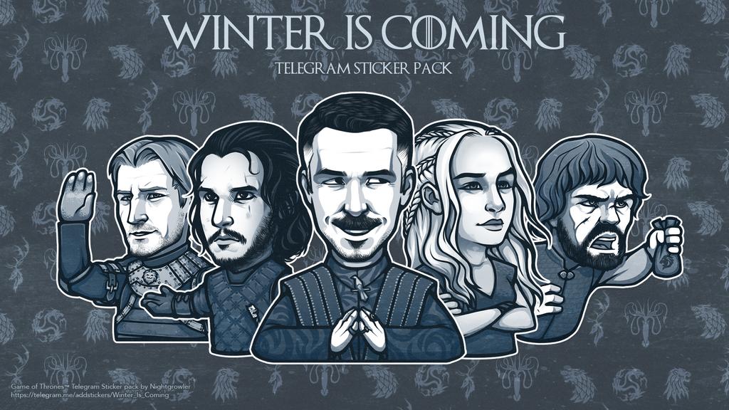 Winter is Coming Telegram Sticker Pack by nightgrowler