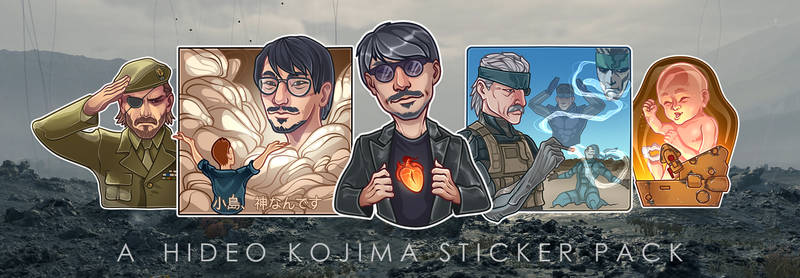 A Hideo Kojima Sticker Pack