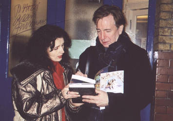 Signed: Alan Rickman and me by JanuaryGuest