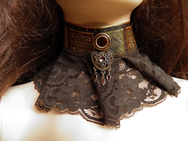 Steampunk-Victorian choker PCCH21 by JanuaryGuest