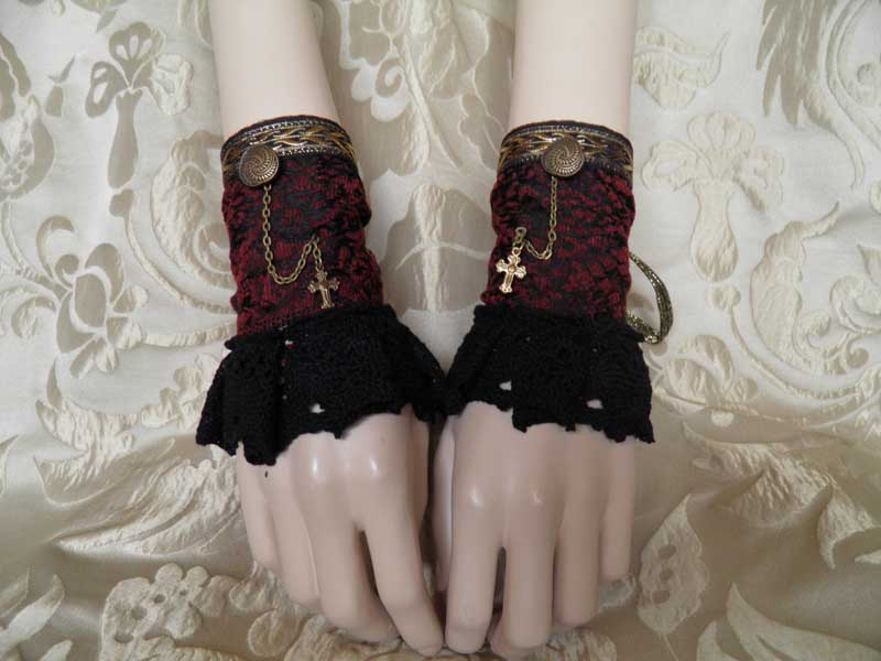 Steampunk-Victorian cuffs PCCC30 by JanuaryGuest