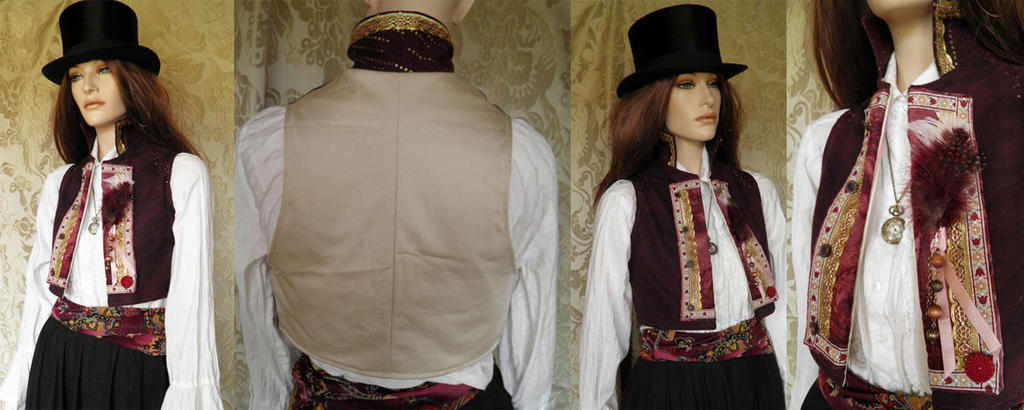 Steampunk-Victorian inspired bolero PCCB4-3 by JanuaryGuest