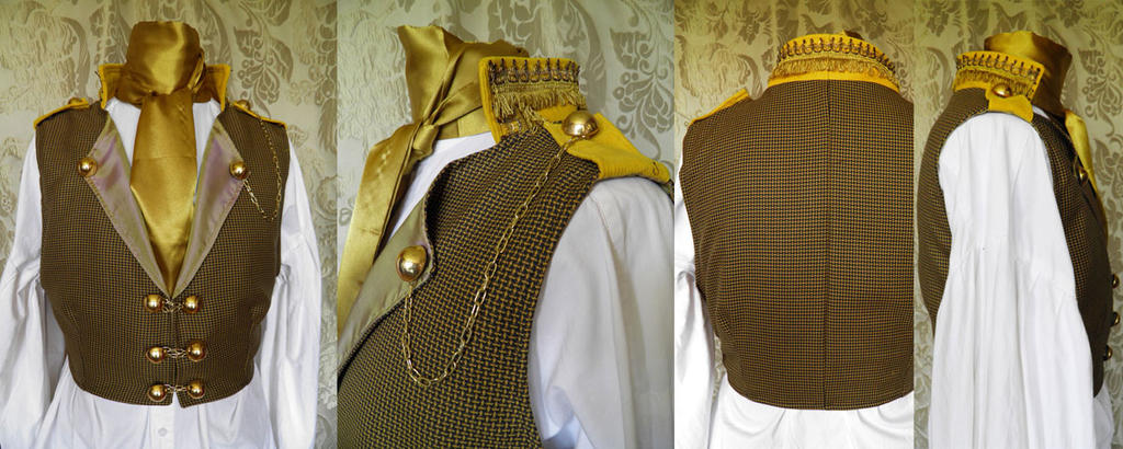 Steampunk inspired waistcoat PCW14-5 by JanuaryGuest