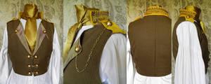 Steampunk inspired waistcoat PCW14-5