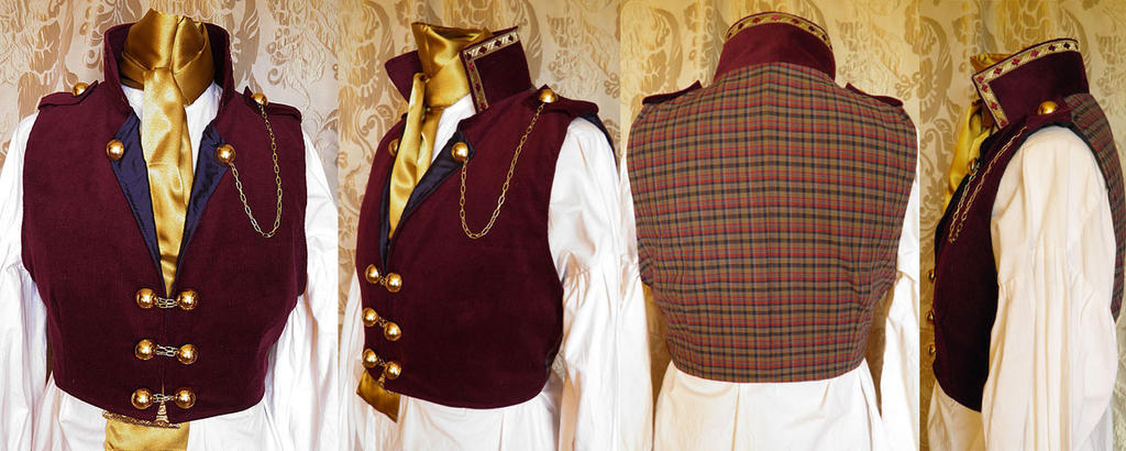 Steampunk-Victorian waistcoat PCW14-4 by JanuaryGuest