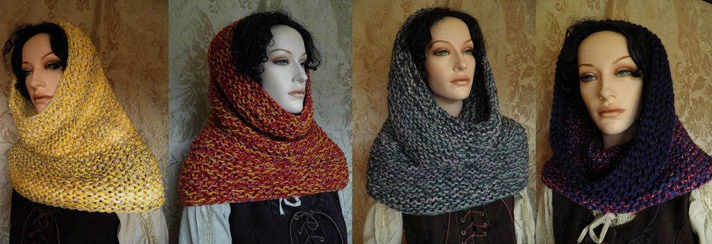 Outlander inspired cowls by JanuaryGuest