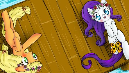 Flower Crown Ponies by LilMissWaffles