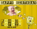 Sample Birthday Wallpaper: Spongebob