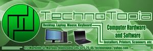 TechnoTopia Poster Advertisement