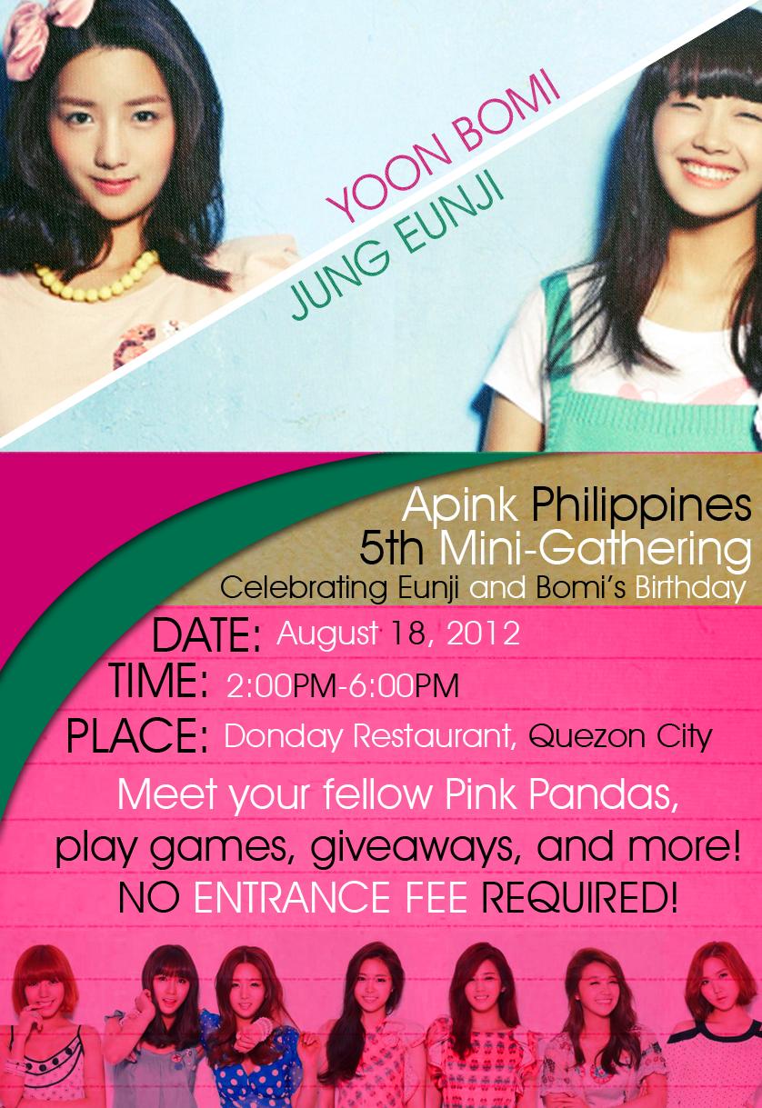 Apink PH 5th Mini-Gathering Poster