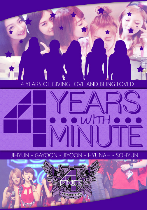 4minute 4th Anniversary Poster from 4minute PH
