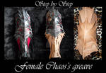 Chaos female armor greave