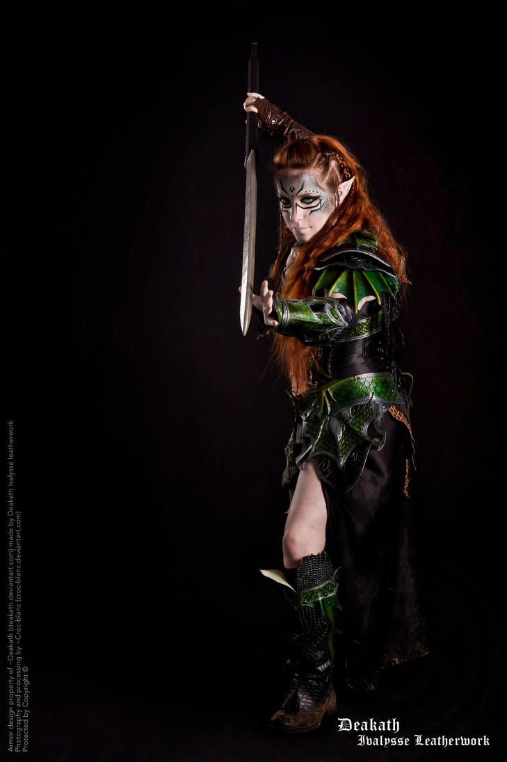 Photoshoot 2013 : Druchii female Armor by Deakath