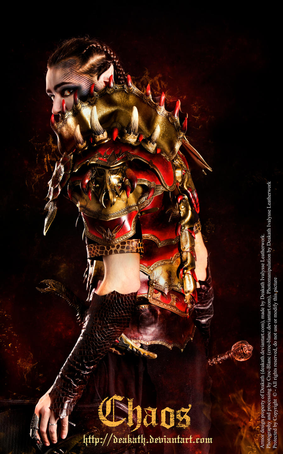 Chaos Male armor