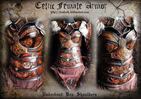 Celtic Female Armor : Bra, Underbust and Shoulders