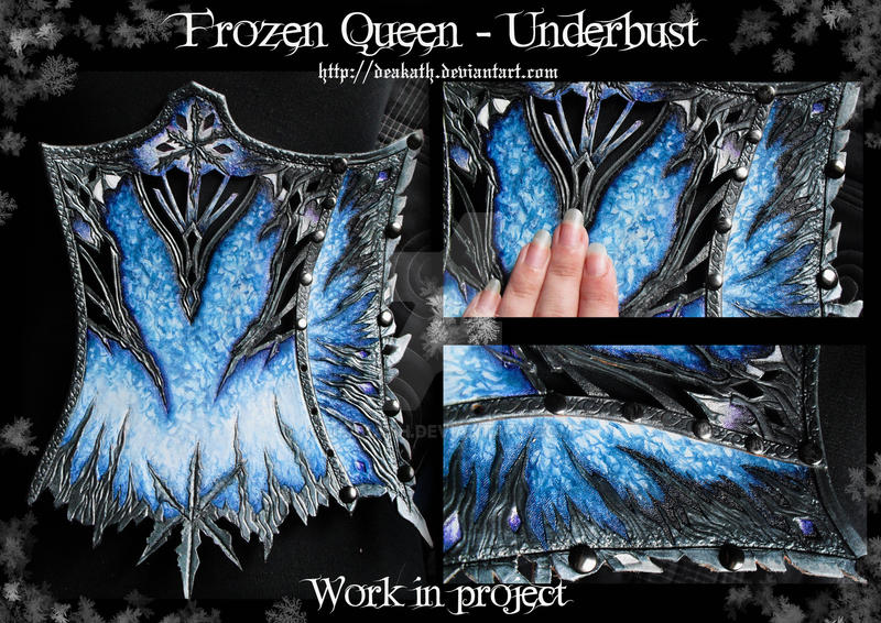 Frozen Queen project : Underbust WIP by Deakath