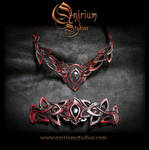Leather jewelry set