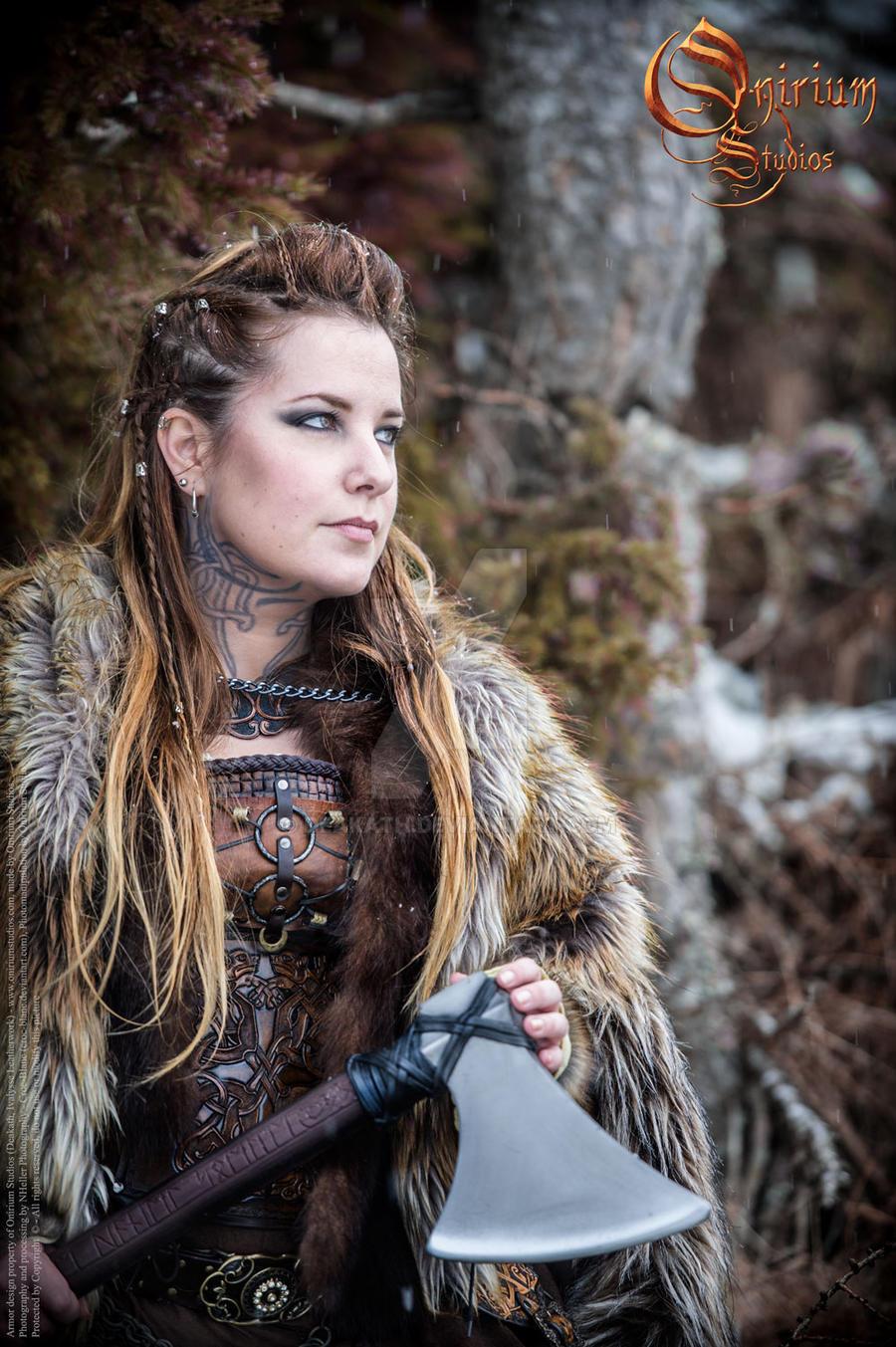 Viking inspired female set - photoshoot 2017 - 2 by Deakath
