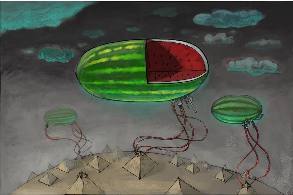 Floating Watermelons by alvintool