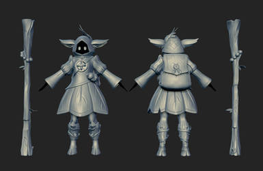 Game Character HiPoly by Vederant