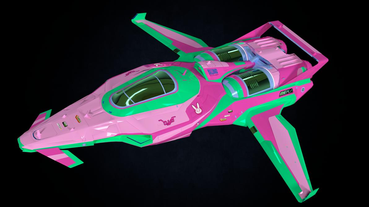 DVa Origin M50 Racer OverwatchCitizen by Filanwizard