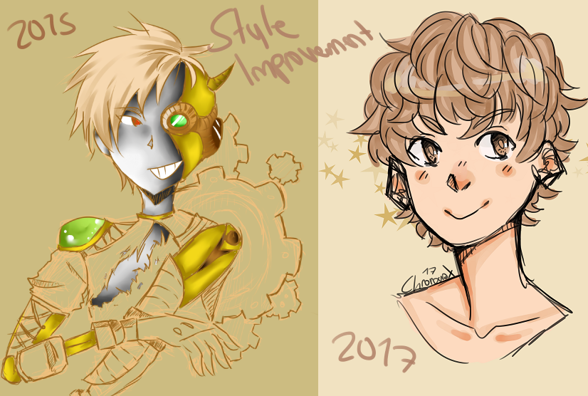 Art style improvement meme by Chrono-naX