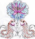 Koi + Lily Tattoo Design Entry
