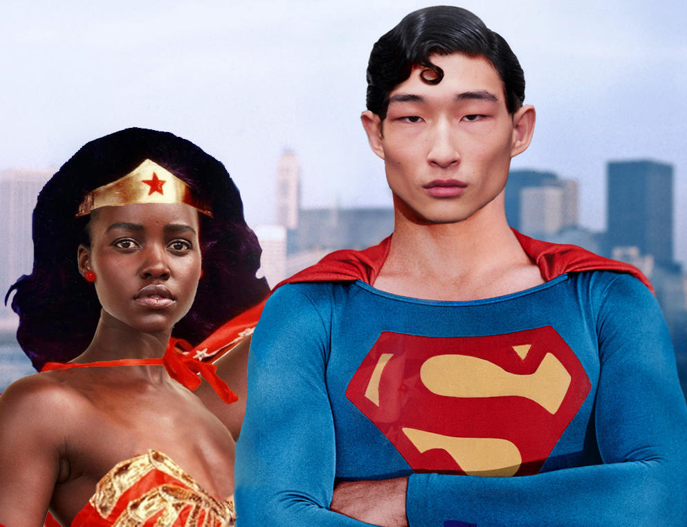 Asian Superman  Black Wonder Woman