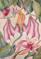 Flower dragon by IrunMerkulova