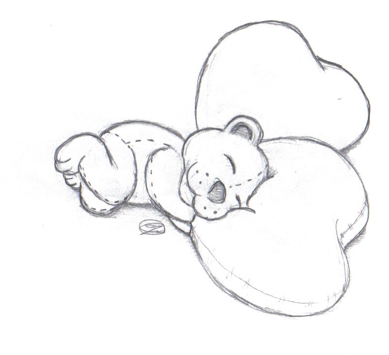 teddy love pillow by Omega4cure on DeviantArt