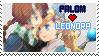 -FFIV:TAY- Palom x Leonora Stamp by PalomPikachu