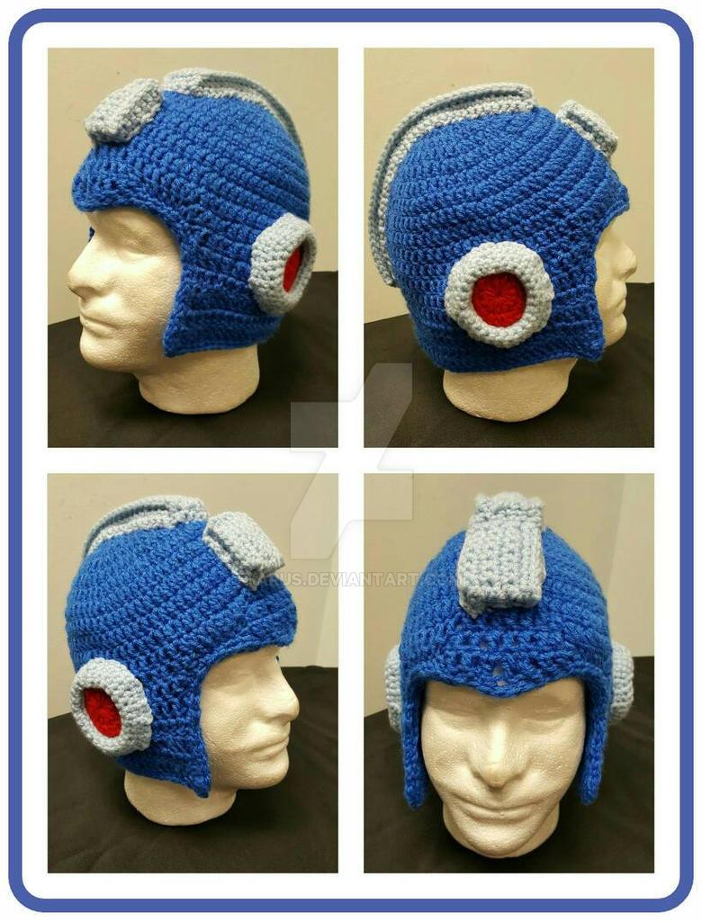 13338bab117 Megaman Crochet Helmet Beanie by Arus on DeviantArt