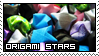 Origami stars by Cathines-Stamps