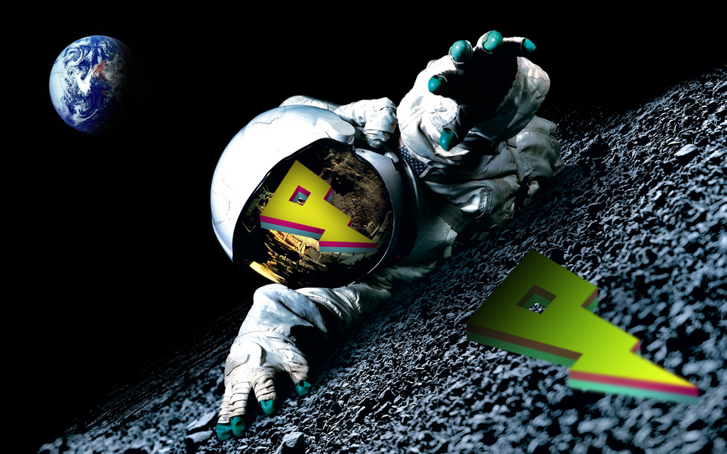 23037 3d Space Scene Astronaut In Space Falling by IUIII
