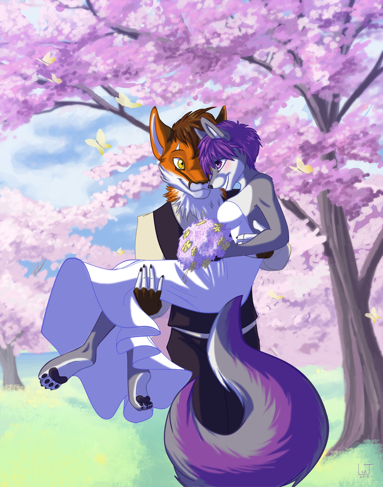 Foxy wedding by lizspit