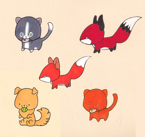 lil folder animals by lizspit