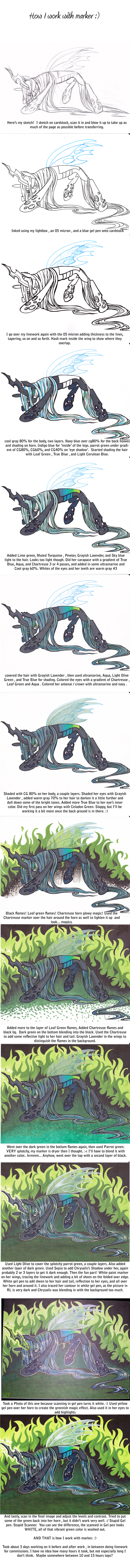 walk through : Chrysalis in marker by lizspit
