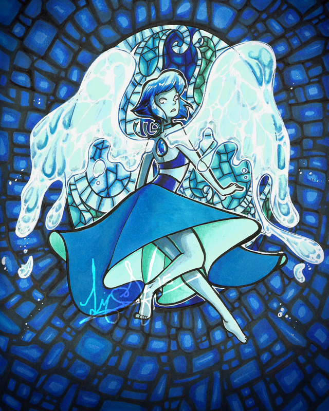Lapis in Marker by lizspit