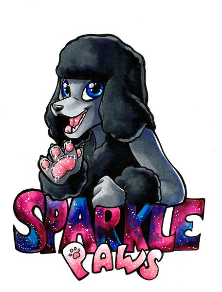 SparklePaws Marker Badge by lizspit