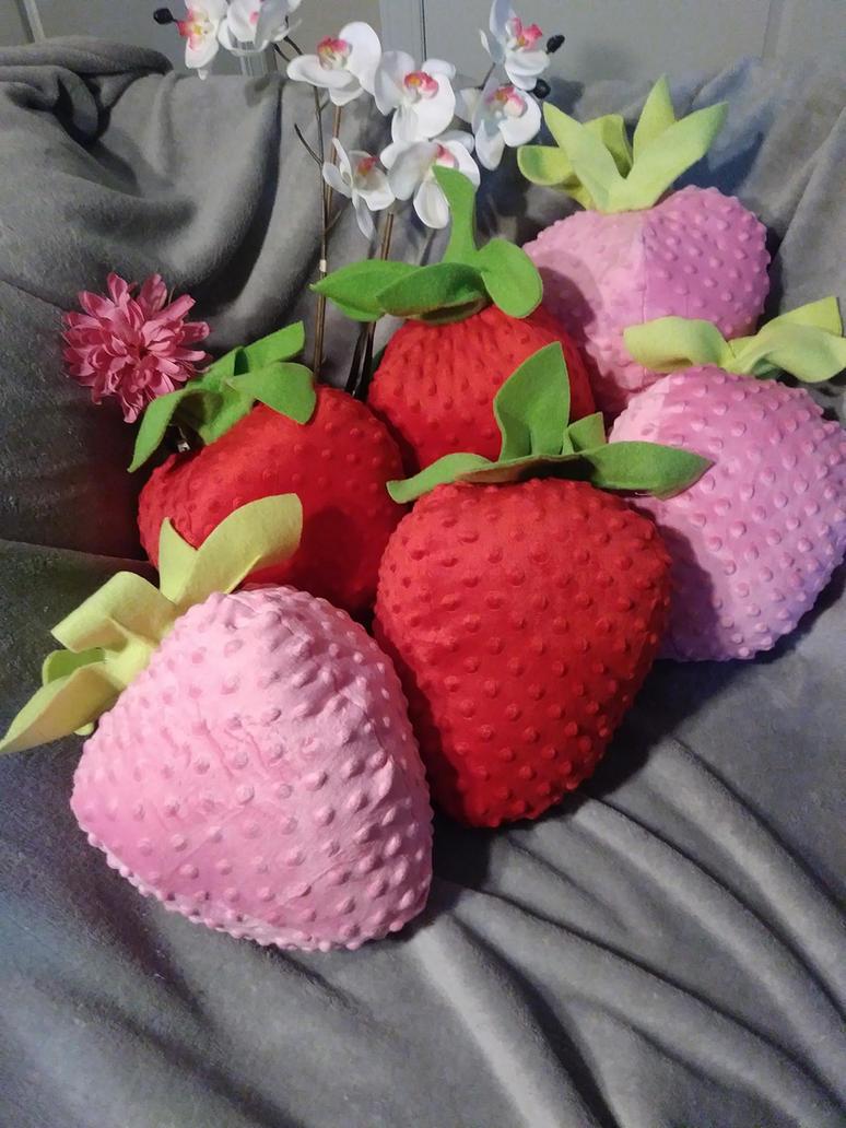 Strawberry fursuit props by lizspit
