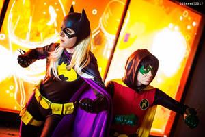 Teamwork - Batgirl and Robin by Love-Joker