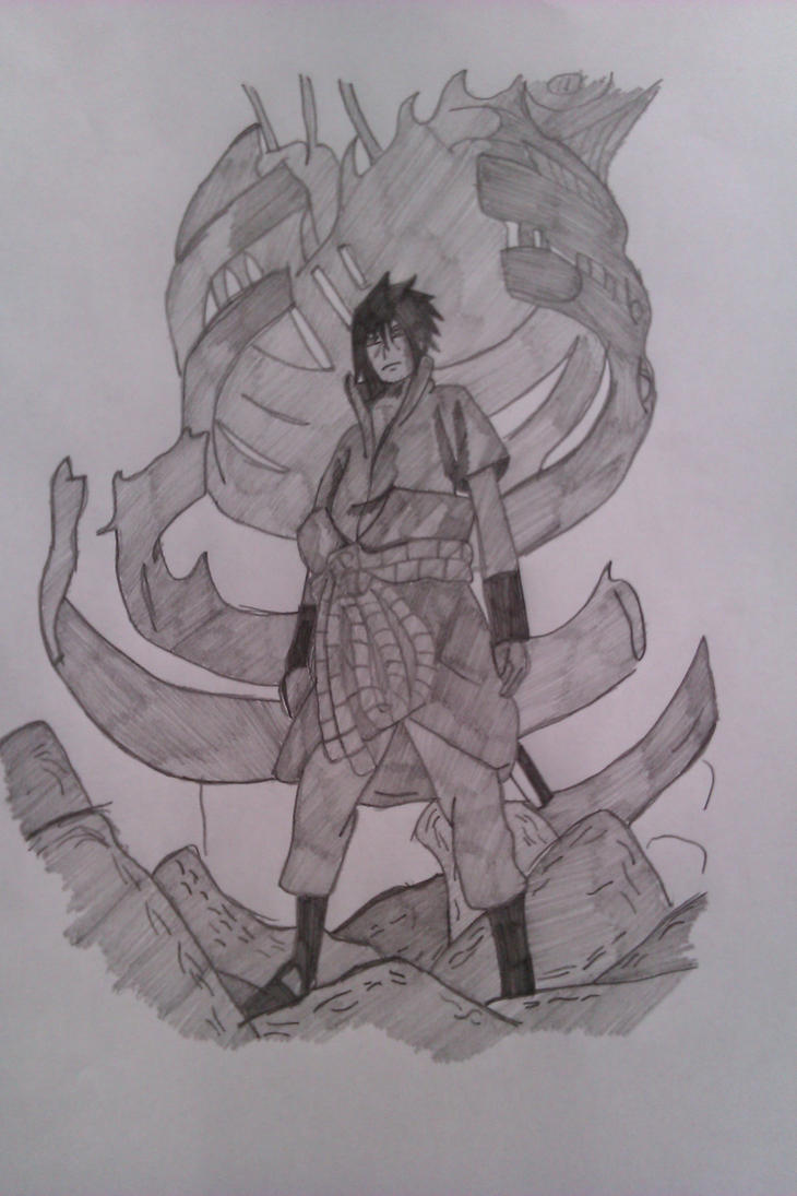 how to draw sasuke demon form