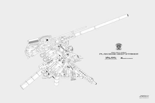 Ex-S Gundam DeepStriker mode Lineart