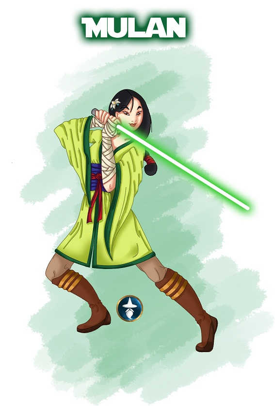 Jedi Disney Princess Mulan by White-Magician