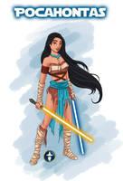 Jedi Disney Princess Pocahontas by White-Magician