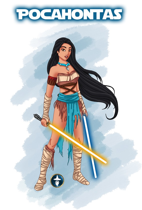 Jedi Disney Princess Pocahontas by White-Magician