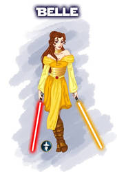 Jedi Disney Princess Belle by White-Magician