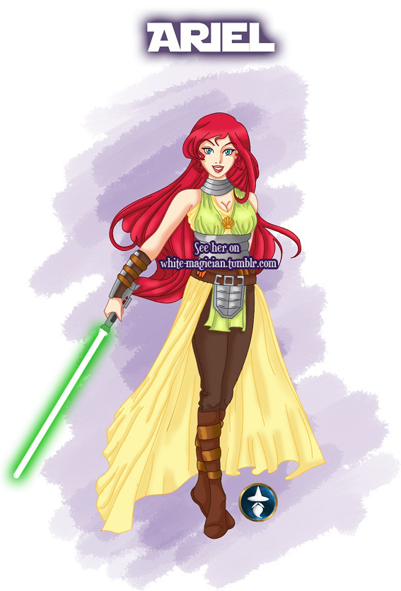 Jedi Disney Princess Ariel by White-Magician